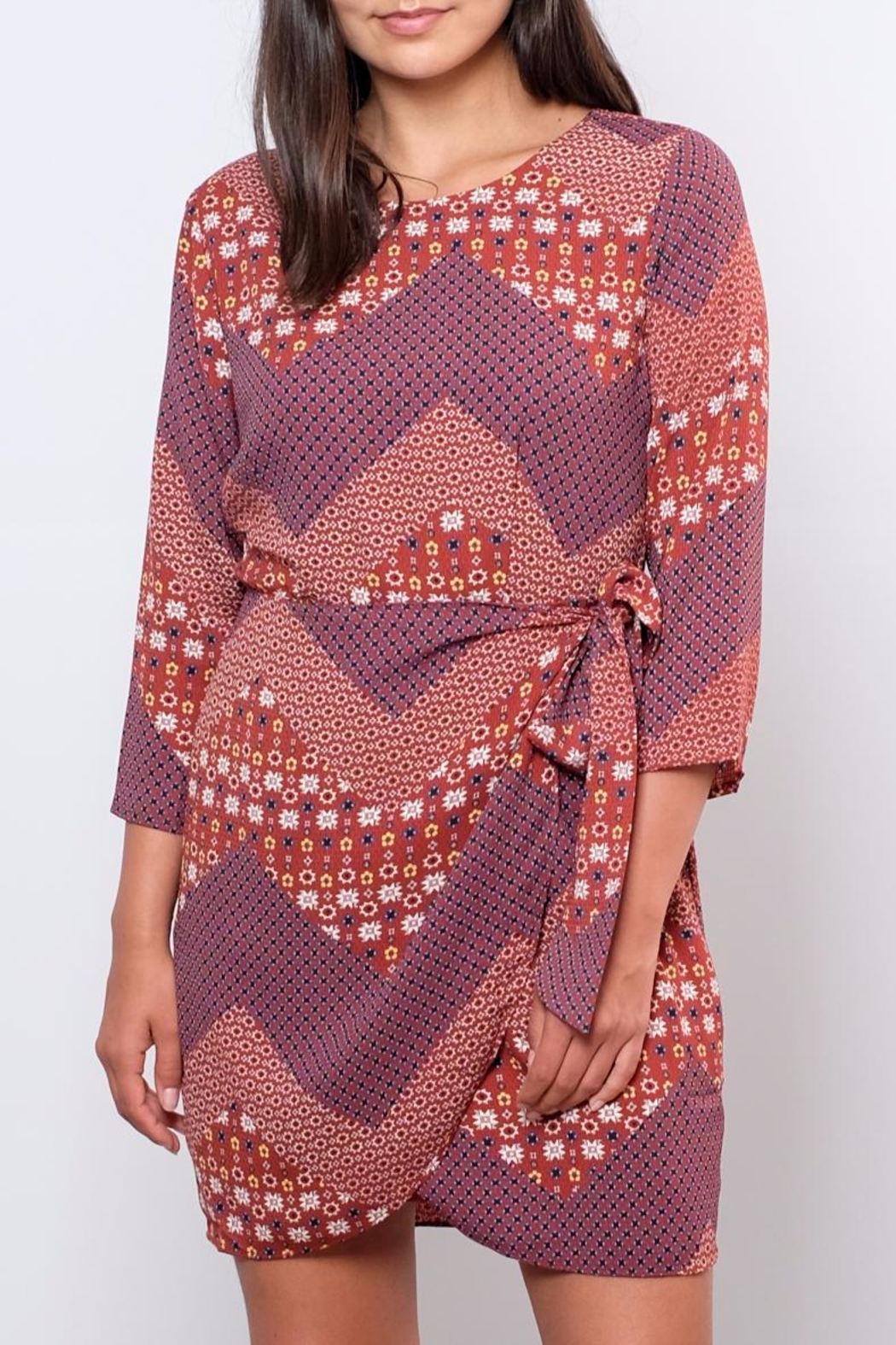 Everly Printed Wrap Dress - Main Image