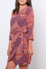 Everly Printed Wrap Dress - Front full body