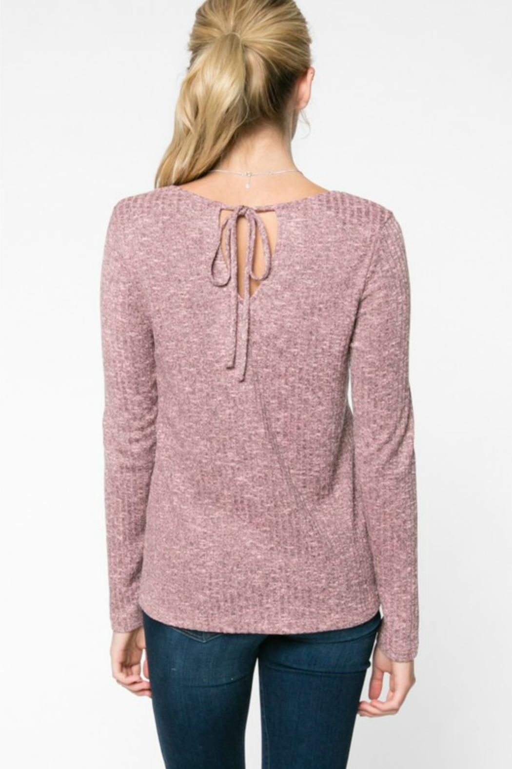 Everly Rib-Knit Top - Front Full Image