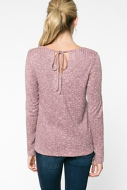 Everly Rib-Knit Top - Front full body