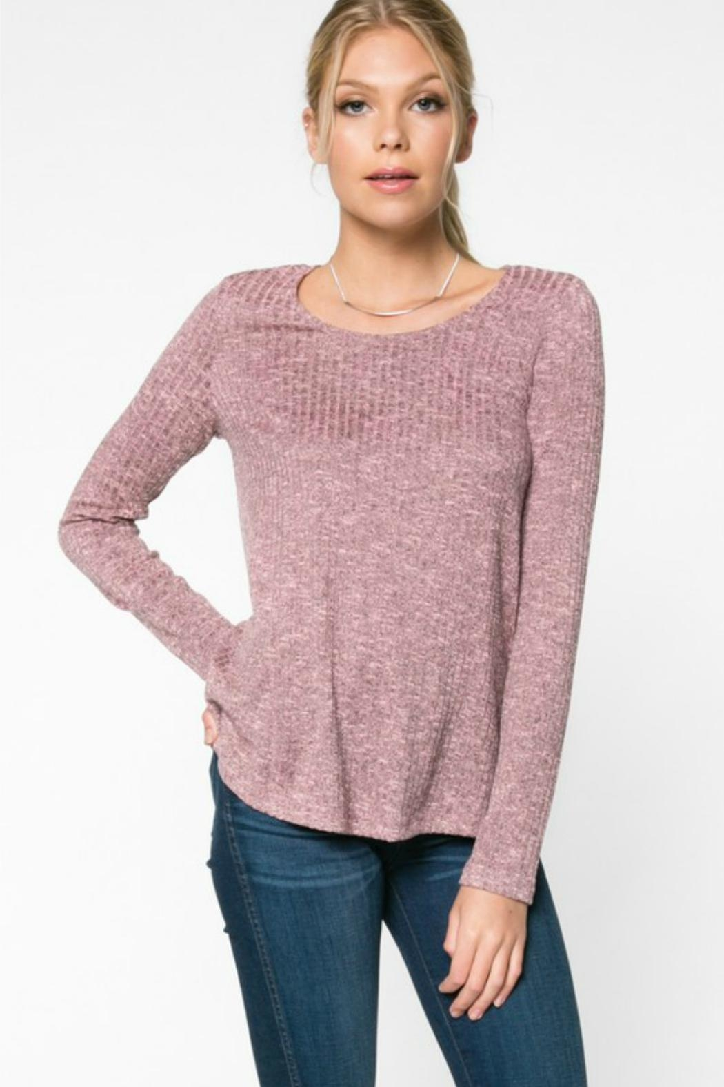Everly Rib-Knit Top - Front Cropped Image