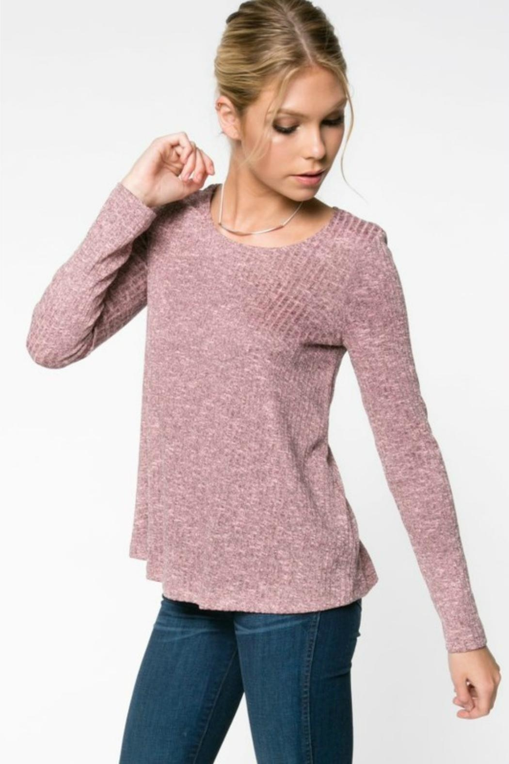 Everly Rib-Knit Top - Side Cropped Image