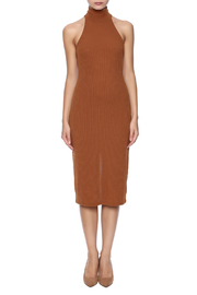 Everly Ribbed Sleeveless Dress - Front cropped
