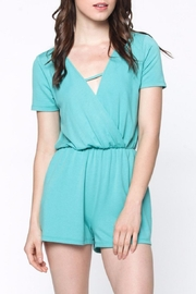 Everly Cute Turquoise Romper - Product Mini Image