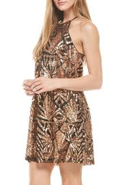 Everly Rose-Gold Sequins Dress - Side cropped