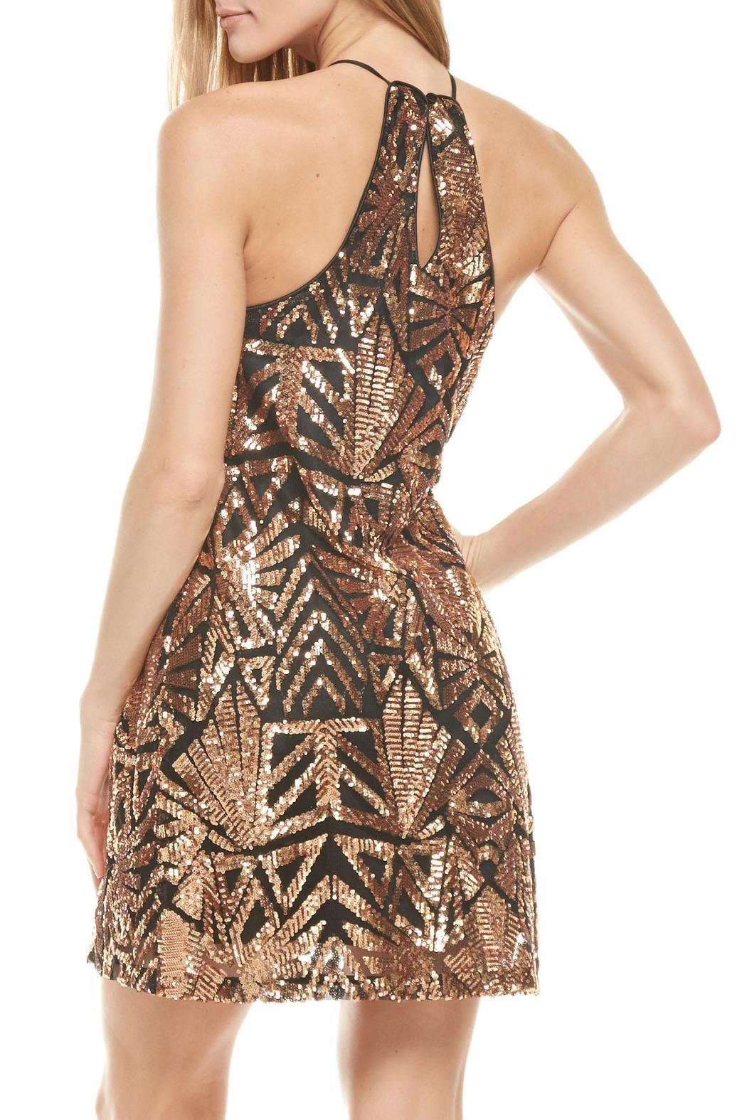 rose gold sequins dress everly shoptiques