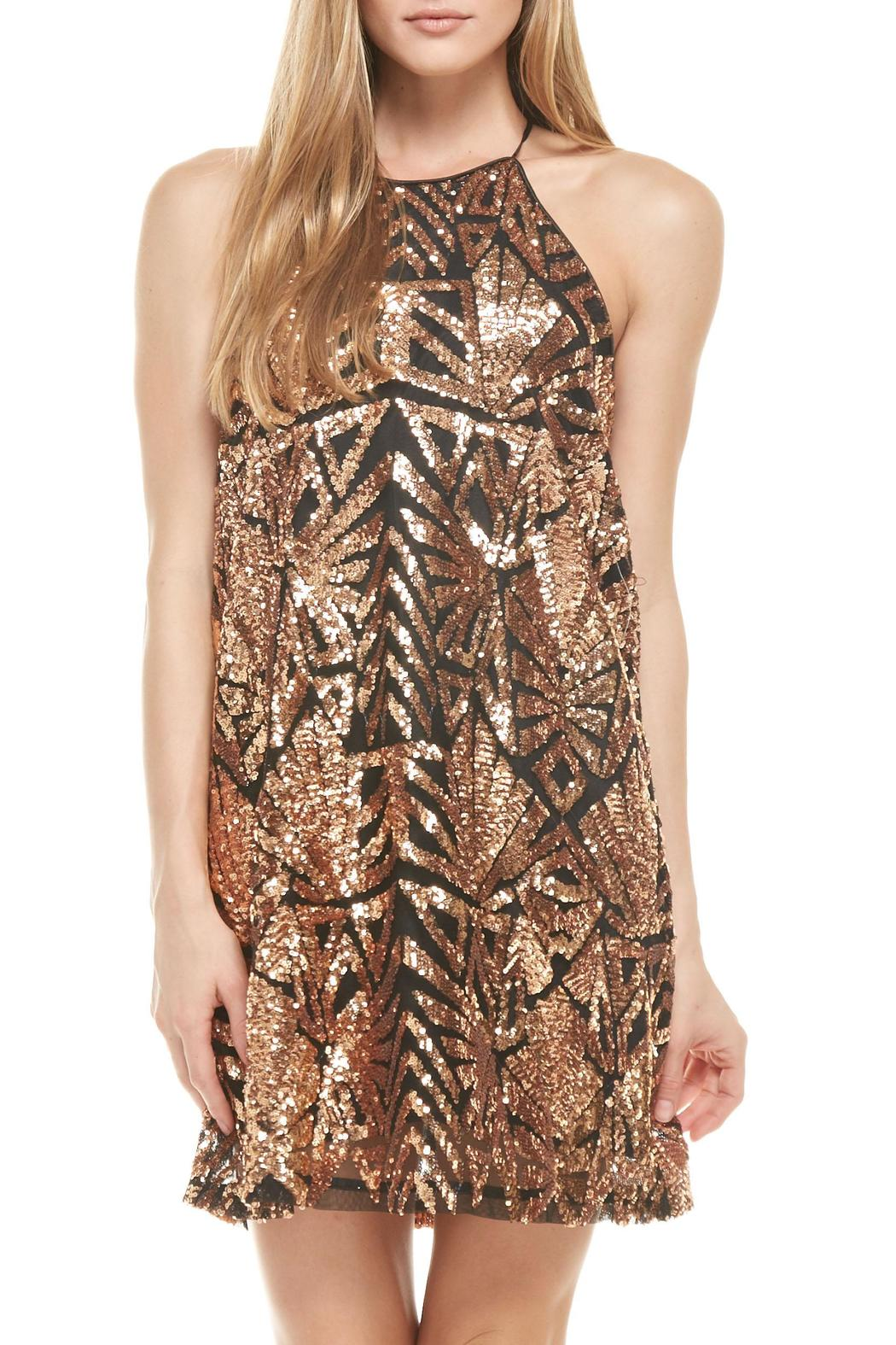 rose gold dress sequins everly dresses clothing shoptiques