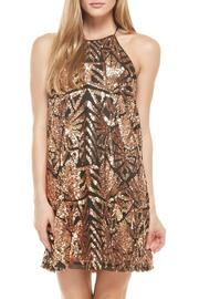 Everly Rose-Gold Sequins Dress - Front full body