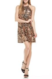 Everly Rose-Gold Sequins Dress - Front cropped