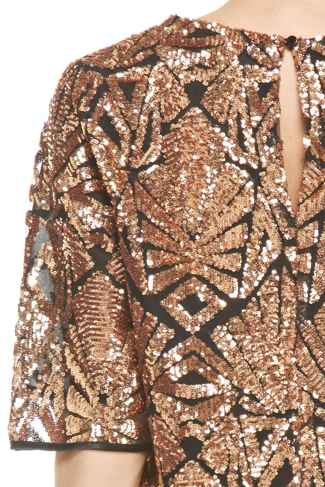 Everly Rose-Gold Sequins Top - Back Cropped Image