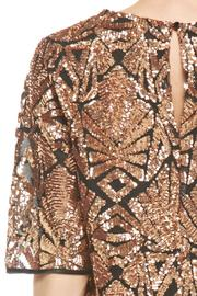 Everly Rose-Gold Sequins Top - Back cropped