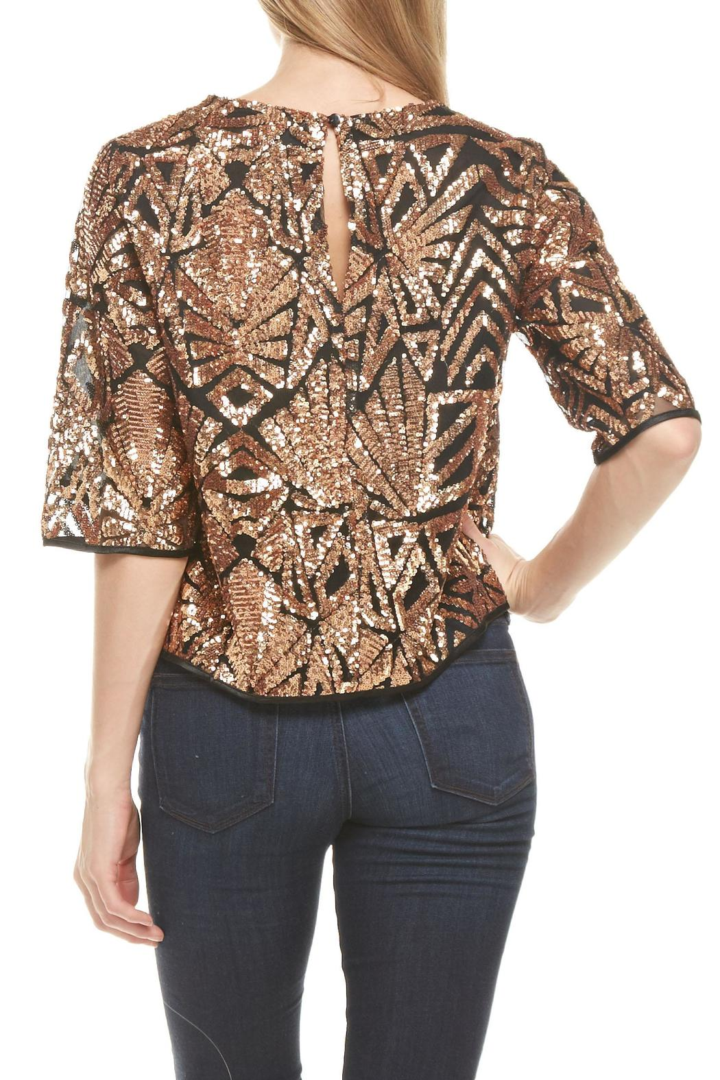 Everly Rose-Gold Sequins Top - Side Cropped Image