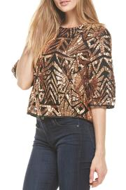 Everly Rose-Gold Sequins Top - Front full body