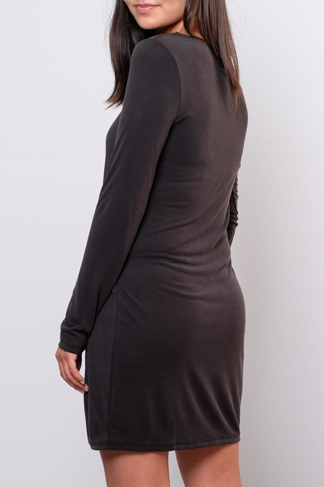 Everly Rouched Waist Dress - Back Cropped Image