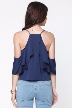 Everly Ruffle Cold Shoulder Top - Alternate List Image