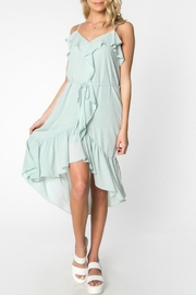 Everly Ruffle High-Low Dress - Product Mini Image
