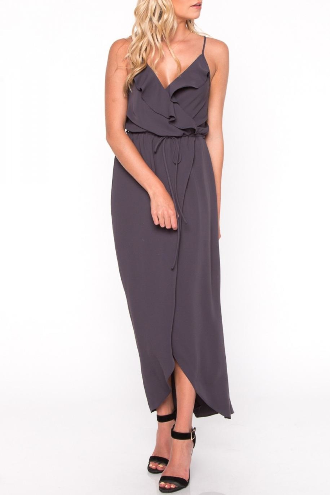 Everly Ruffle Maxi Dress - Front Cropped Image