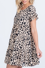Everly Ruffle Printed Dress - Side cropped