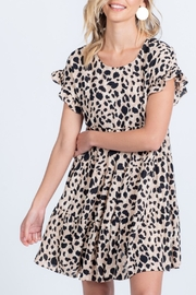 Everly Ruffle Printed Dress - Front full body