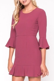 Everly Ruffle Shift Dress - Product Mini Image