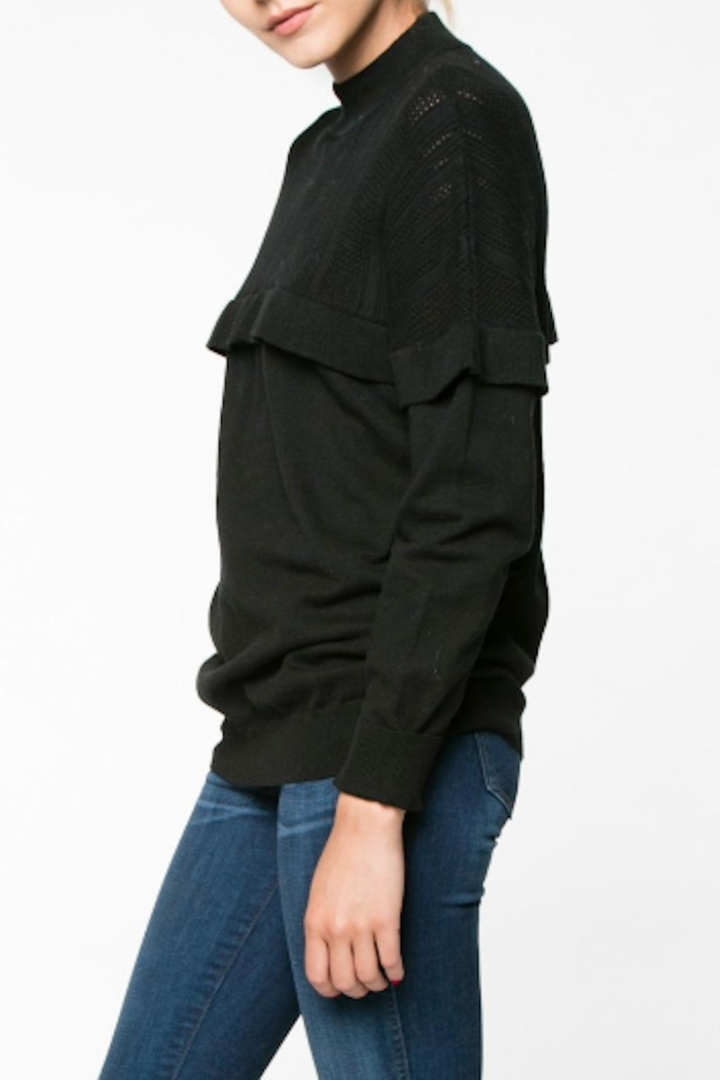 Everly Ruffle Sweater - Front Full Image