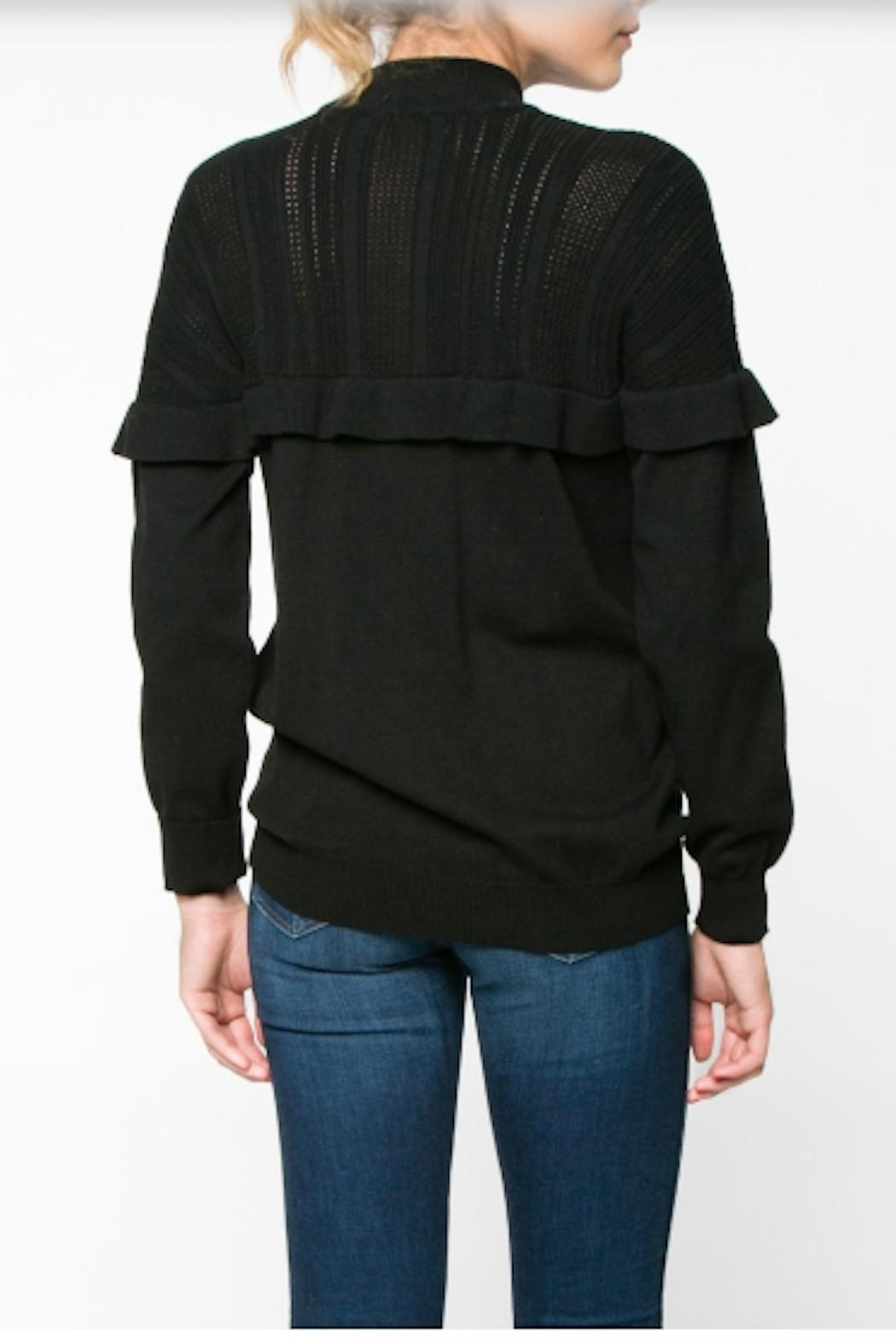 Everly Ruffle Sweater - Side Cropped Image