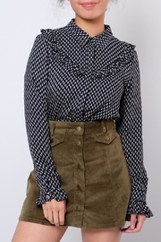 Everly Ruffled Country Shirt - Front cropped
