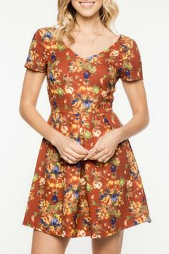 Shoptiques Product: Rust Floral A-Line Dress