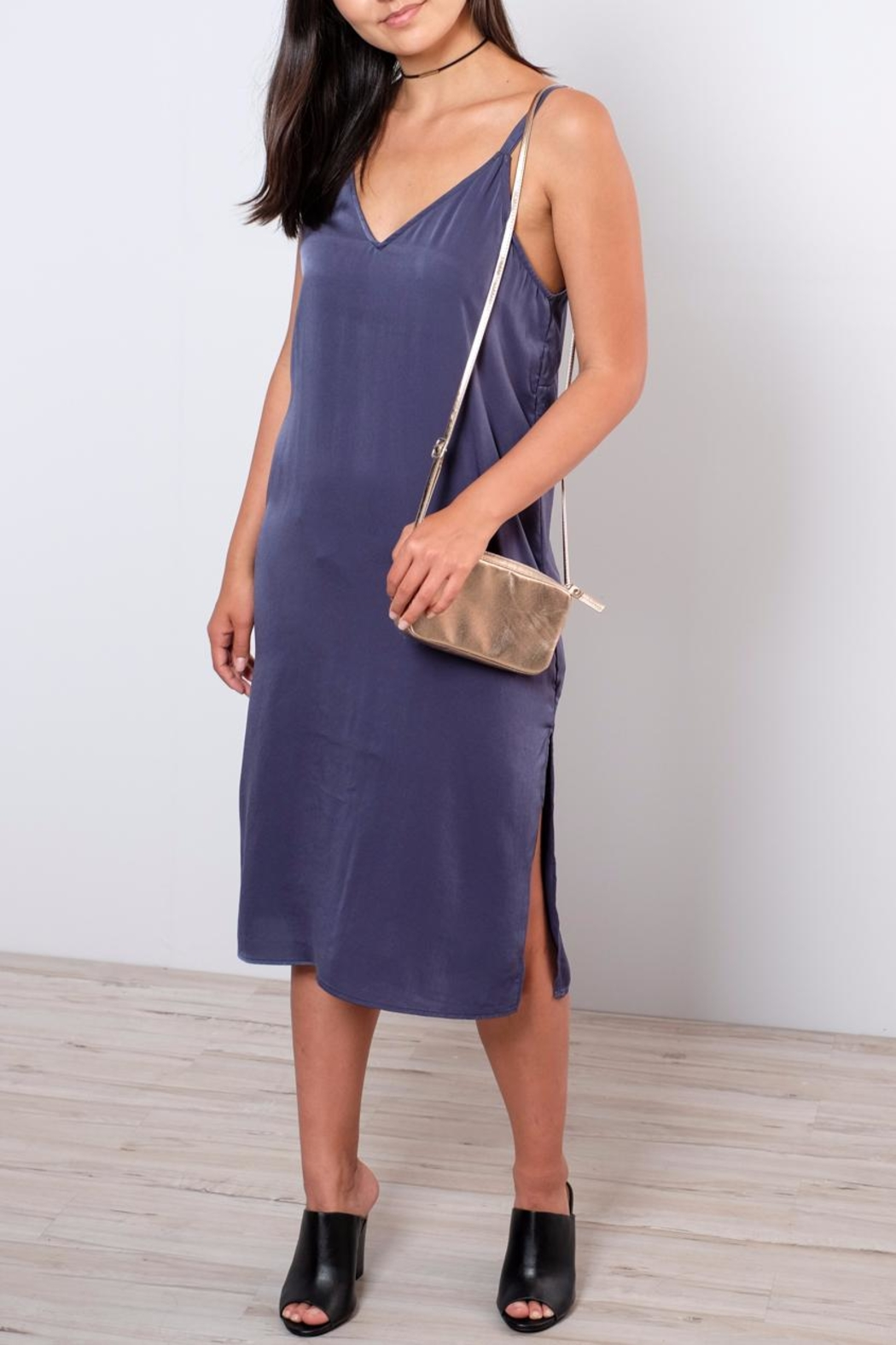 Everly Satin Shift Dress - Front Cropped Image