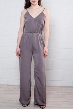 Shoptiques Product: Satin V Neck Jumpsuit