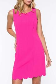 Everly Scallop Hem Dress - Front cropped