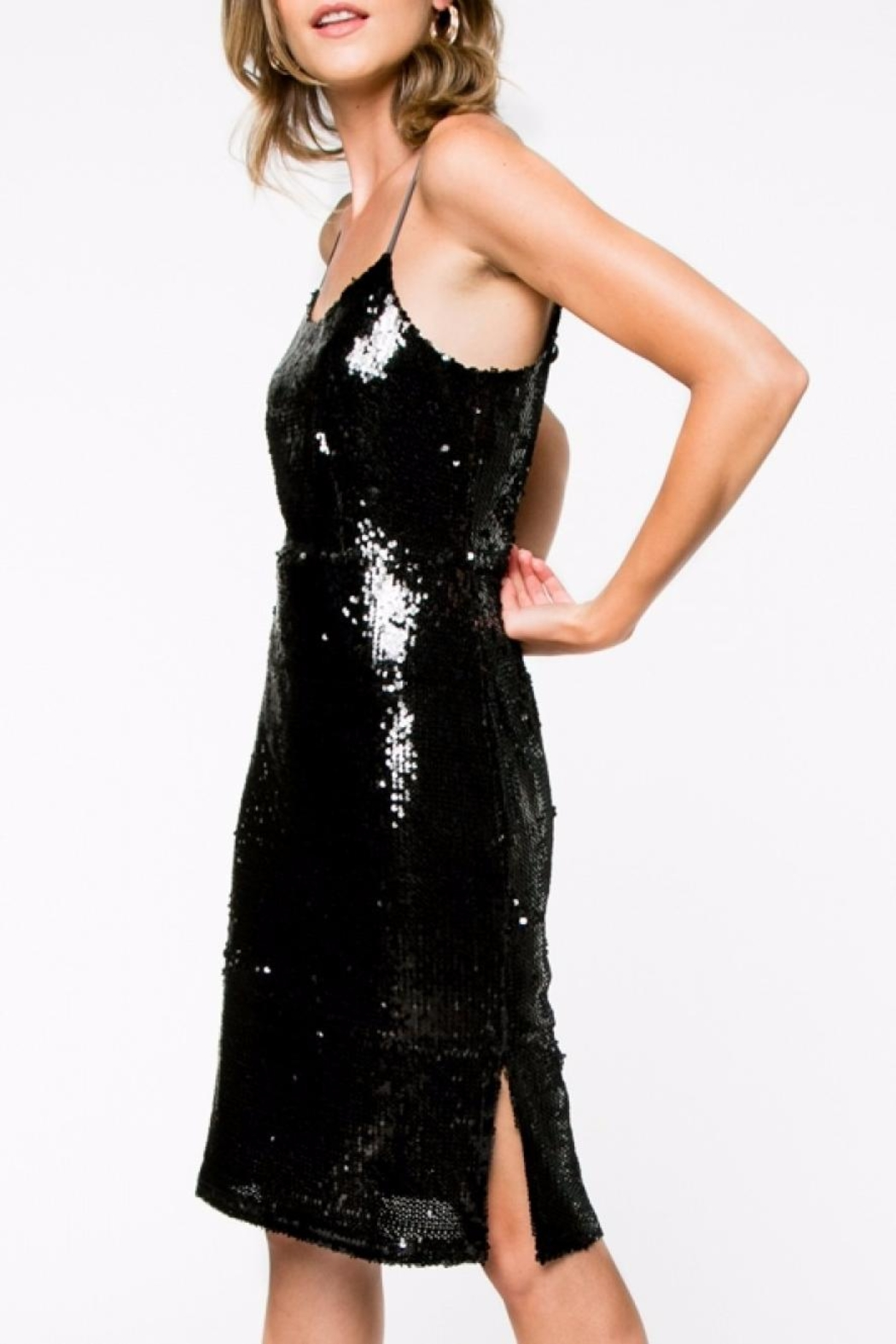 Everly Sequin Mini Dress - Front Full Image