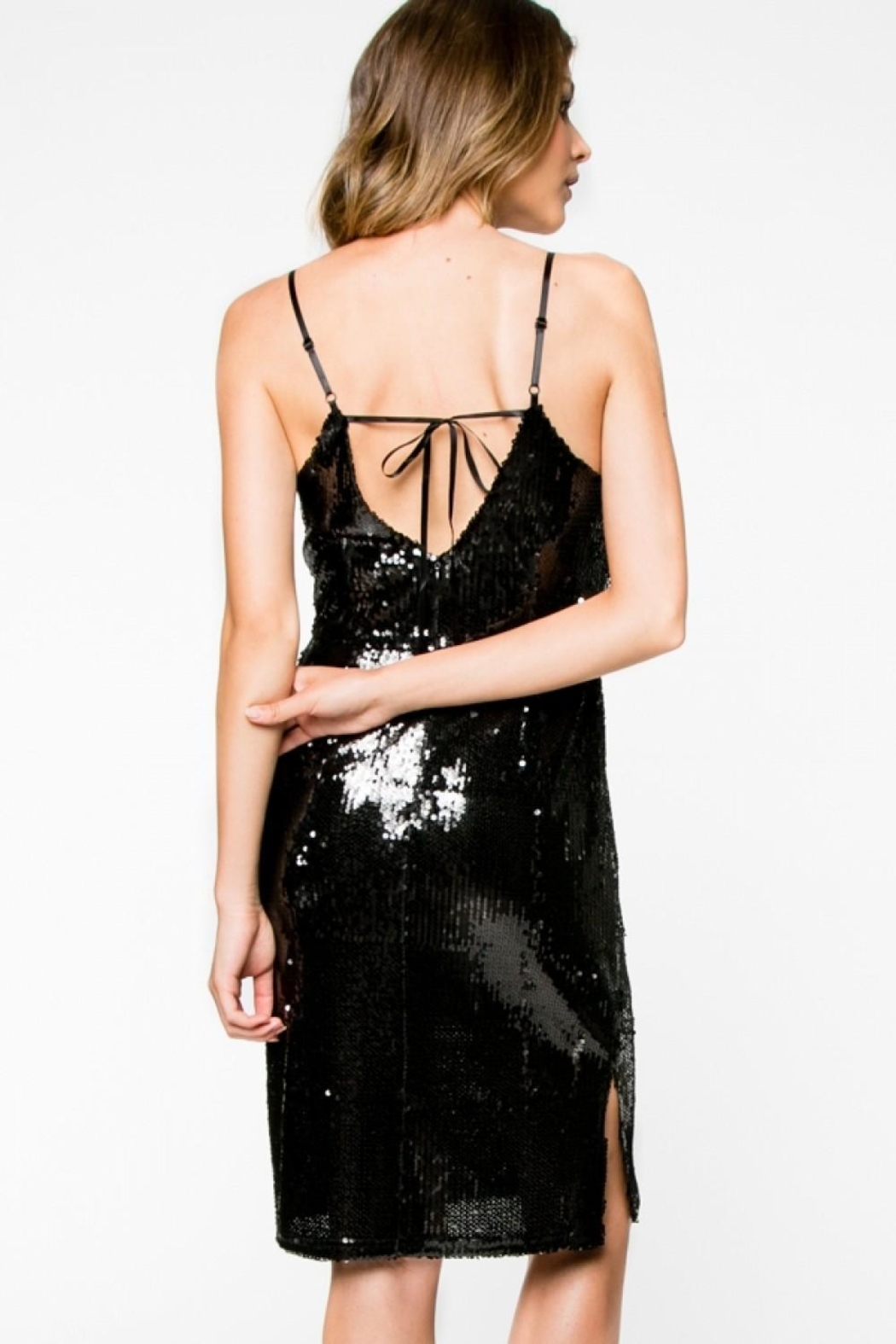 Everly Sequin Mini Dress - Side Cropped Image