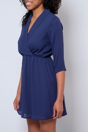 Everly Shawl Neck Dress - Front full body