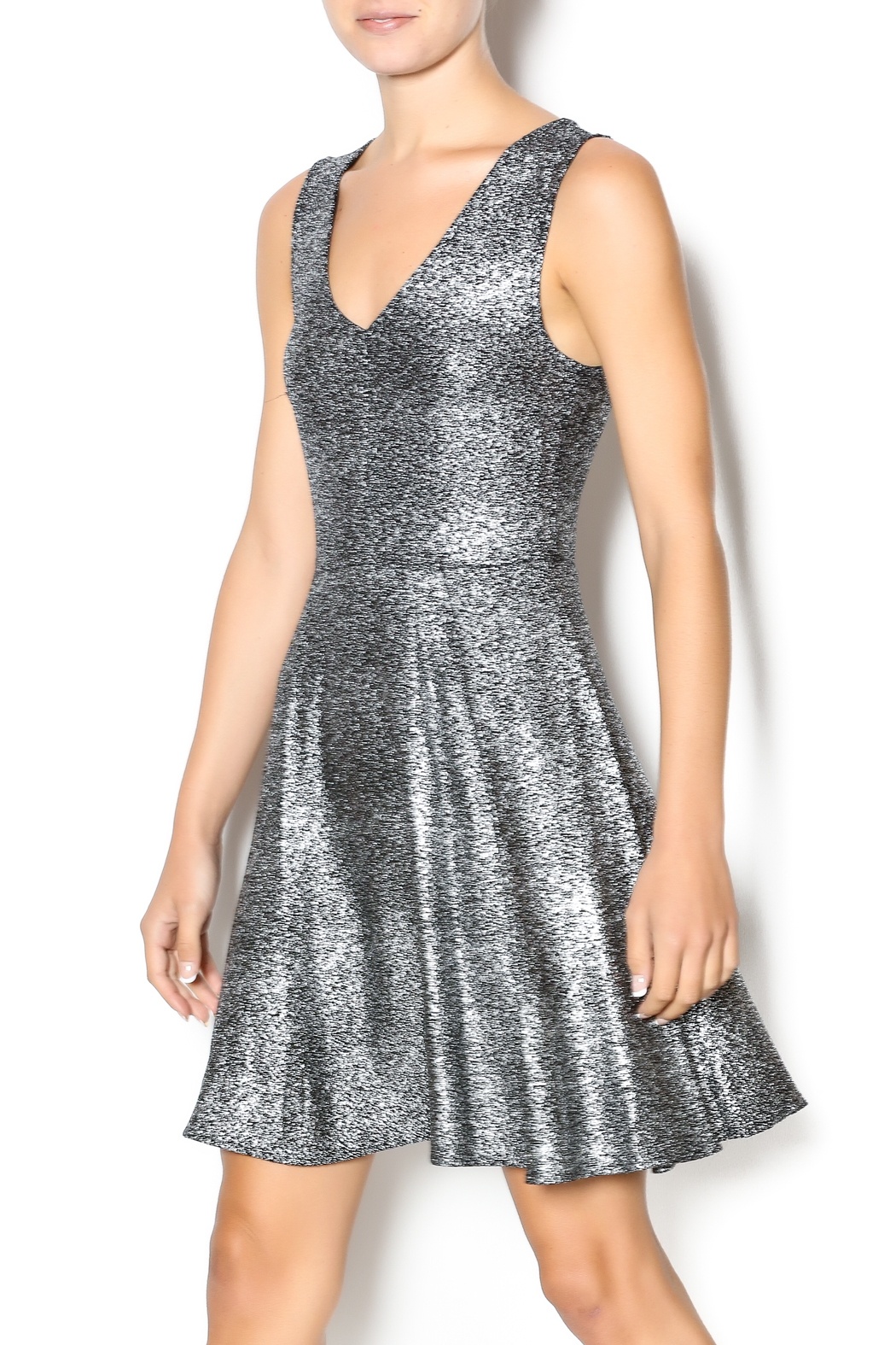 Everly Shimmer Flare Dress From South Dakota By Posh