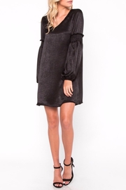 Everly Shiny Shift Dress - Front full body