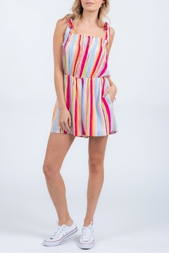 Everly Shoulder Tie Romper - Product List Image