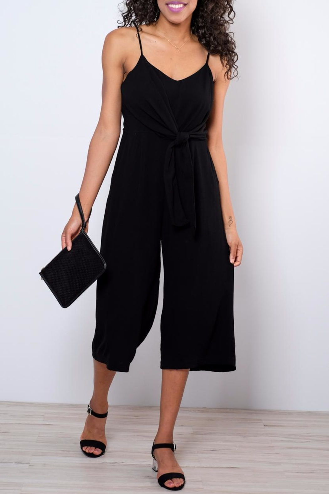 Everly Side Tie Culotte Jumpsuit - Main Image