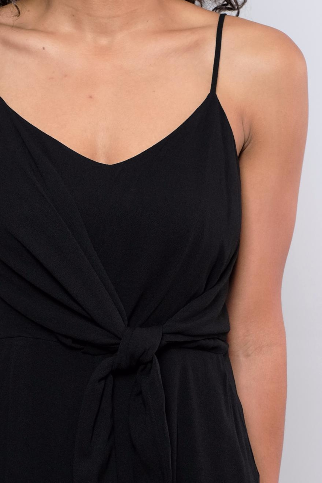 Everly Side Tie Culotte Jumpsuit - Back Cropped Image