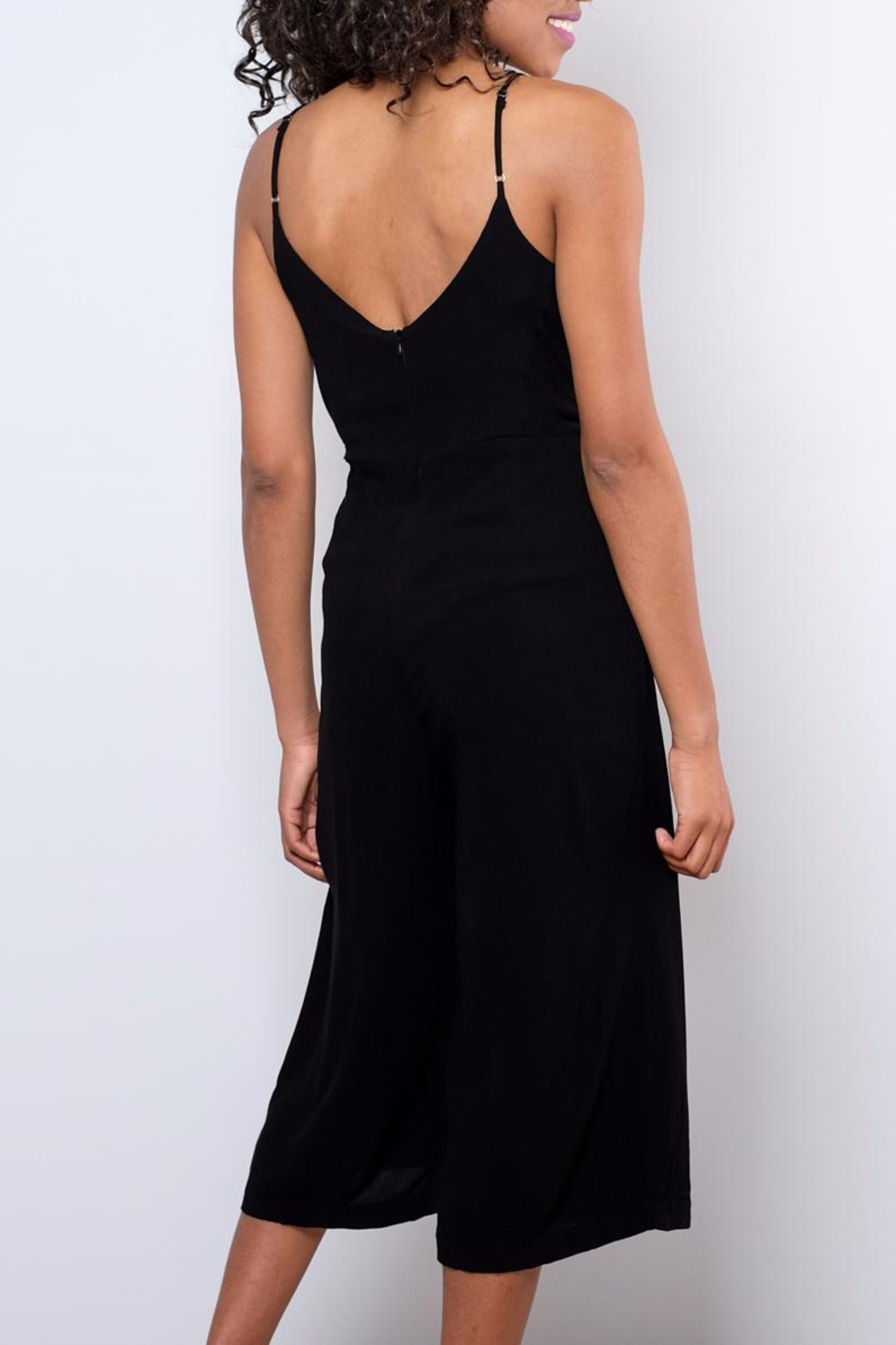 Everly Side Tie Culotte Jumpsuit - Side Cropped Image