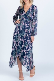 Everly Side-Tie Floral Wrap-Dress - Product Mini Image