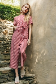Everly Side-Tie Striped Jumpsuit - Product Mini Image