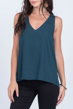 Everly Silky Tank Pine - Product List Image