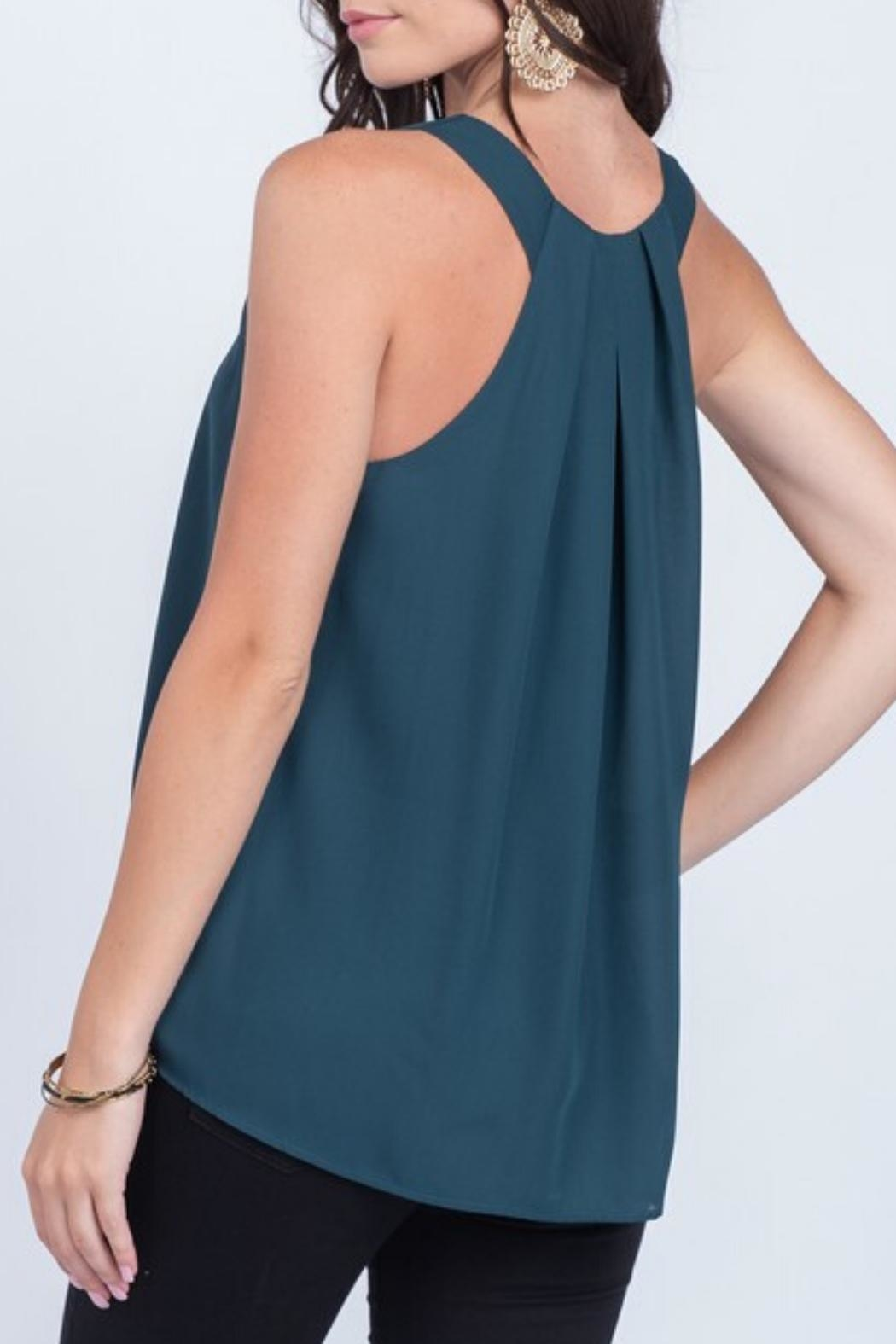 Everly Silky Tank Pine - Front Full Image