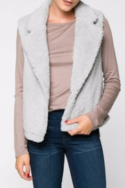 Everly Silver Fleece Vest - Product Mini Image