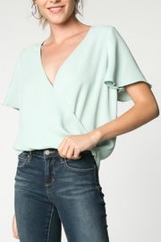 Everly Soft Mint Blouse - Product Mini Image