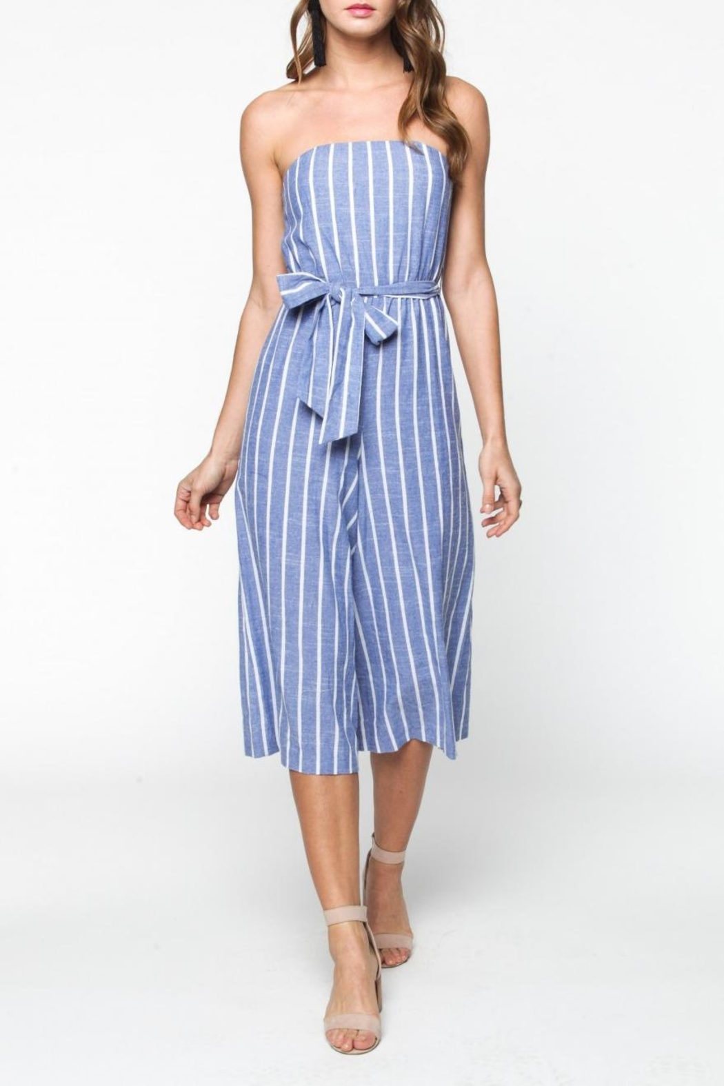 2b83606626b9 Everly Strapless Striped Jumpsuit from Virginia by mod soul — Shoptiques