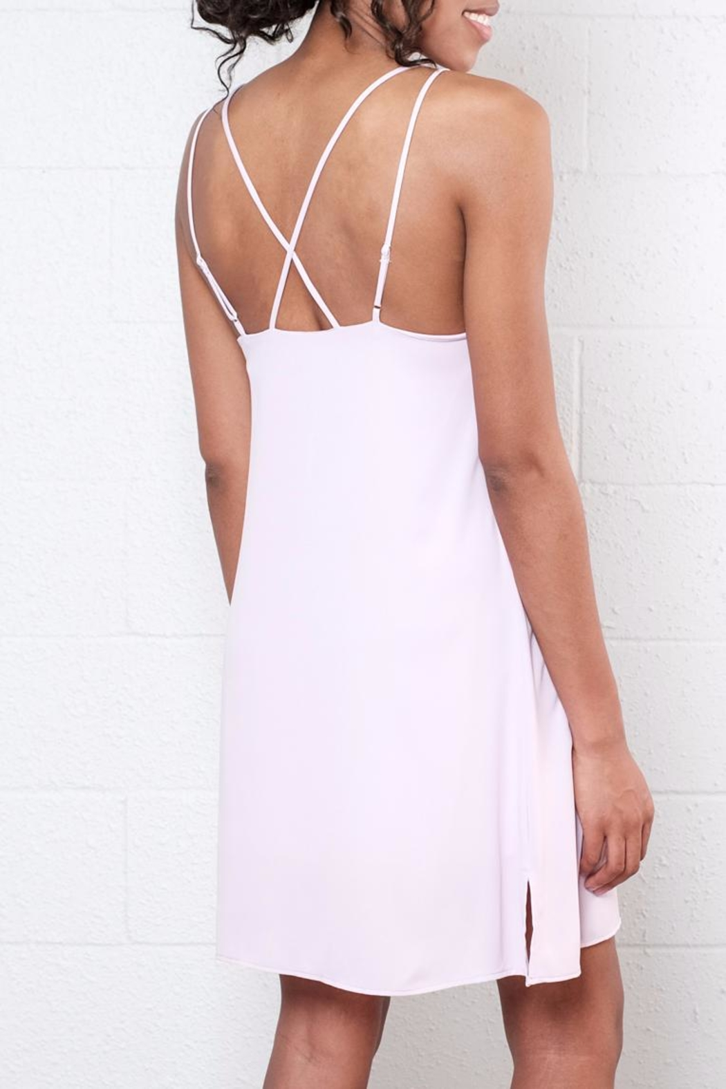 Everly Strappy Slip Dress - Side Cropped Image