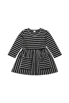 Shoptiques Product: Everly Striped Black Dress