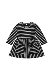 Elsa Bella Baby Everly Striped Black Dress - Product Mini Image